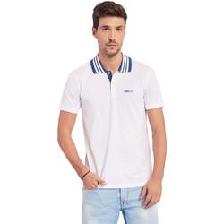 Textil Muži Polo s krátkými rukávy Gaudi 011BU64044 Bílý
