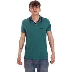 Textil Muži Polo s krátkými rukávy Gaudi 011BU64044 Zelený