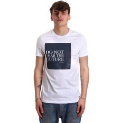 Textil Muži Trička s krátkým rukávem Gaudi 011BU64067 Bílý