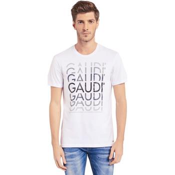 Textil Muži Trička s krátkým rukávem Gaudi 011BU64068 Bílý