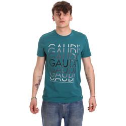 Textil Muži Trička s krátkým rukávem Gaudi 011BU64068 Zelený
