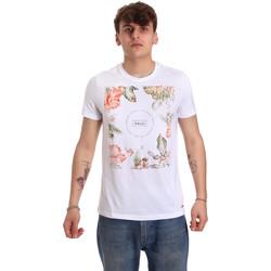Textil Muži Trička s krátkým rukávem Gaudi 011BU64070 Bílý