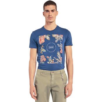 Textil Muži Trička s krátkým rukávem Gaudi 011BU64070 Modrý