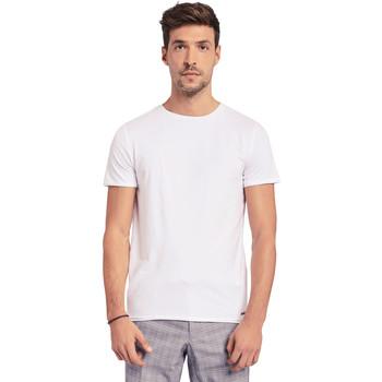 Textil Muži Trička s krátkým rukávem Gaudi 011BU64093 Bílý