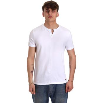 Textil Muži Trička s krátkým rukávem Gaudi 011BU64094 Bílý