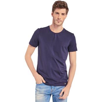 Textil Muži Trička s krátkým rukávem Gaudi 011BU64094 Modrý
