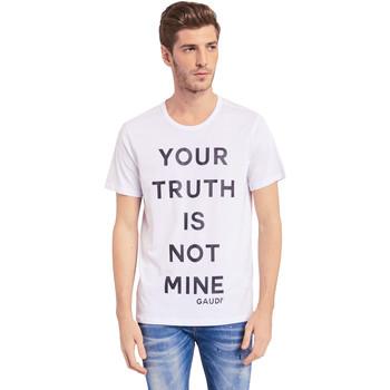 Textil Muži Trička s krátkým rukávem Gaudi 011BU64107 Bílý