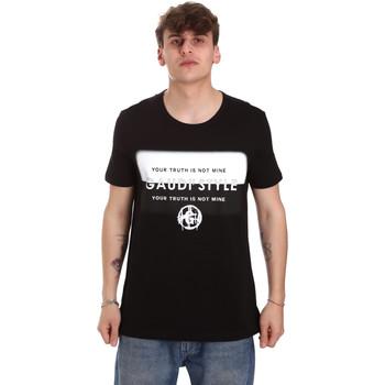 Textil Muži Trička s krátkým rukávem Gaudi 011BU64108 Černá