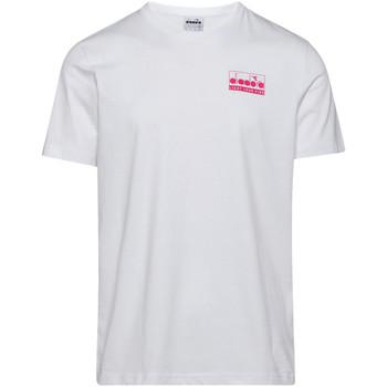 Textil Muži Trička s krátkým rukávem Diadora 502175837 Bílý