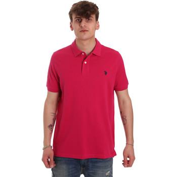 Textil Muži Polo s krátkými rukávy U.S Polo Assn. 55957 41029 Růžový