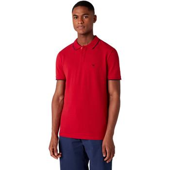 Textil Muži Polo s krátkými rukávy Wrangler W7D5K4X47 Červené