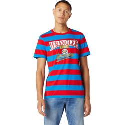 Textil Muži Trička s krátkým rukávem Wrangler W7E1FKXKL Modrý