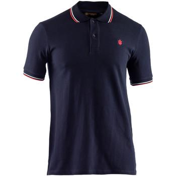 Textil Muži Polo s krátkými rukávy Lumberjack CM45940 009 506 Modrý