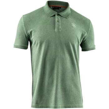 Textil Muži Polo s krátkými rukávy Lumberjack CM45940 007 516 Zelený