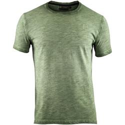 Textil Muži Trička s krátkým rukávem Lumberjack CM60343 004 517 Zelený