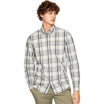 Textil Muži Košile s dlouhymi rukávy Pepe jeans PM306160 Černá