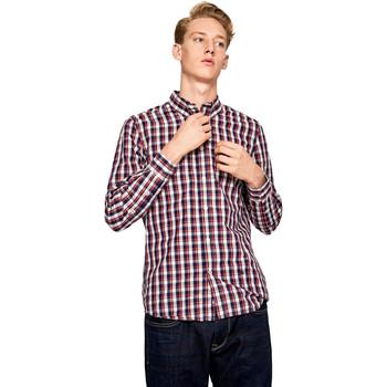 Textil Muži Košile s dlouhymi rukávy Pepe jeans PM306161 Modrý