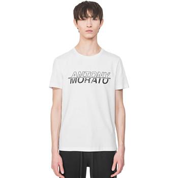 Textil Muži Trička s krátkým rukávem Antony Morato MMKS01816 FA100144 Bílý