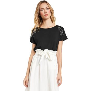 Textil Ženy Trička s krátkým rukávem Gaudi 011FD64022 Černá