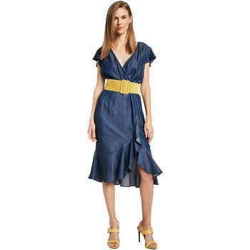 Textil Ženy Krátké šaty Gaudi 011BD16001 Modrý