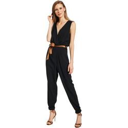 Textil Ženy Overaly / Kalhoty s laclem Gaudi 011BD25045 Černá