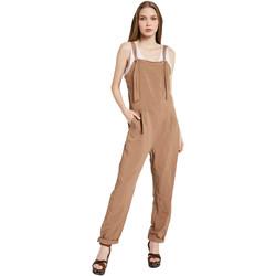 Textil Ženy Overaly / Kalhoty s laclem Gaudi 011BD25049 Hnědý