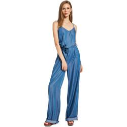 Textil Ženy Overaly / Kalhoty s laclem Gaudi 011BD26038 Modrý