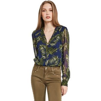 Textil Ženy Košile / Halenky Gaudi 011BD45018 Modrý