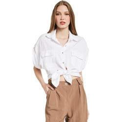 Textil Ženy Košile / Halenky Gaudi 011BD45030 Bílý