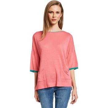 Textil Ženy Svetry Gaudi 011BD53033 Růžový