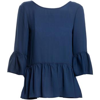 Textil Ženy Halenky / Blůzy Fracomina FR20SP040 Modrý