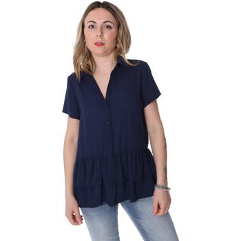 Textil Ženy Košile / Halenky Fracomina FR20SP039 Modrý