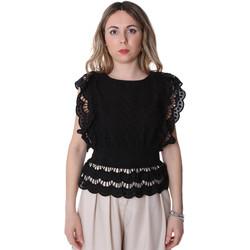Textil Ženy Halenky / Blůzy Fracomina FR20SP586 Černá