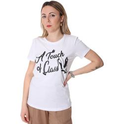 Textil Ženy Trička s krátkým rukávem Fracomina FR20SP306 Bílý