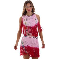 Textil Ženy Krátké šaty Versace D2HVB406S0777K67 Bílý
