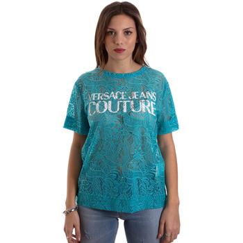 Textil Ženy Trička s krátkým rukávem Versace B2HVB70804748207 Modrý