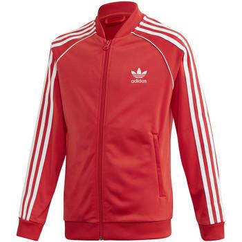 Textil Děti Teplákové bundy adidas Originals FM5662 Červené