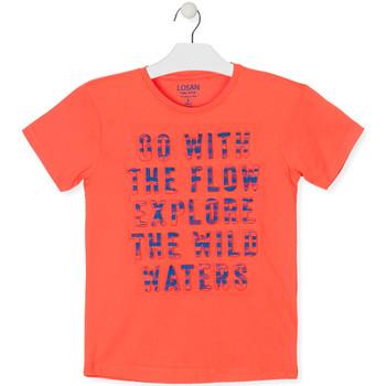 Textil Chlapecké Trička s krátkým rukávem Losan 013-1005AL Oranžový