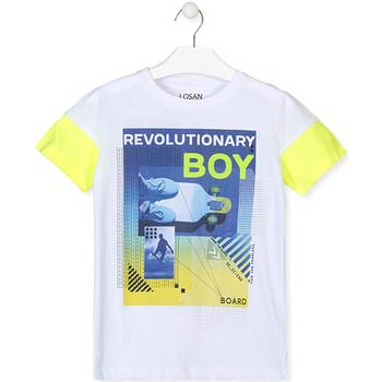 Textil Chlapecké Trička s krátkým rukávem Losan 013-1006AL Bílý