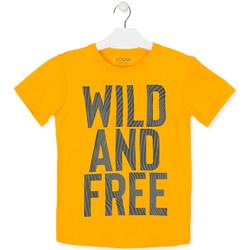 Textil Děti Trička s krátkým rukávem Losan 013-1018AL Žlutá