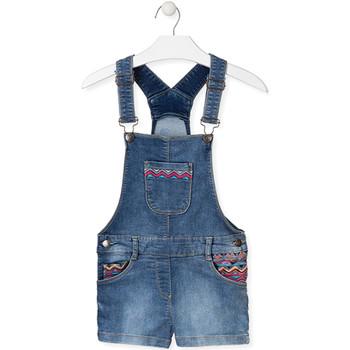 Textil Děti Overaly / Kalhoty s laclem Losan 014-6017AL Modrý