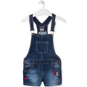 Textil Děti Overaly / Kalhoty s laclem Losan 014-6027AL Modrý