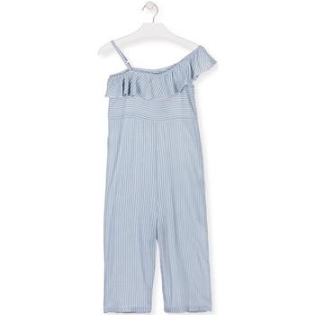 Textil Dívčí Overaly / Kalhoty s laclem Losan 014-7022AL Modrý