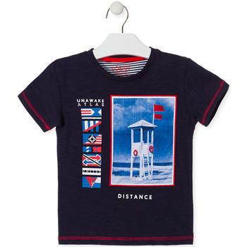 Textil Děti Trička s krátkým rukávem Losan 015-1001AL Modrý