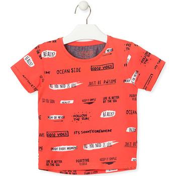 Textil Děti Trička s krátkým rukávem Losan 015-1003AL Oranžový