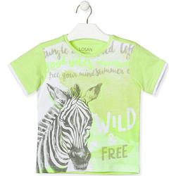 Textil Děti Trička s krátkým rukávem Losan 015-1011AL Zelený
