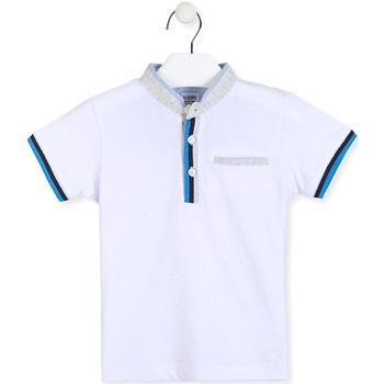 Textil Chlapecké Polo s krátkými rukávy Losan 015-1791AL Bílý