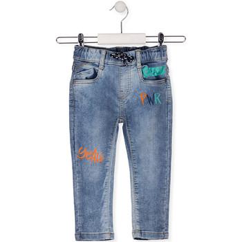 Textil Děti Rifle slim Losan 015-6022AL Modrý