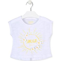 Textil Dívčí Trička s krátkým rukávem Losan 016-1006AL Bílý