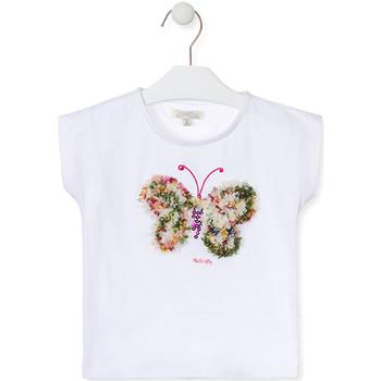 Textil Dívčí Trička s krátkým rukávem Losan 016-1790AL Bílý